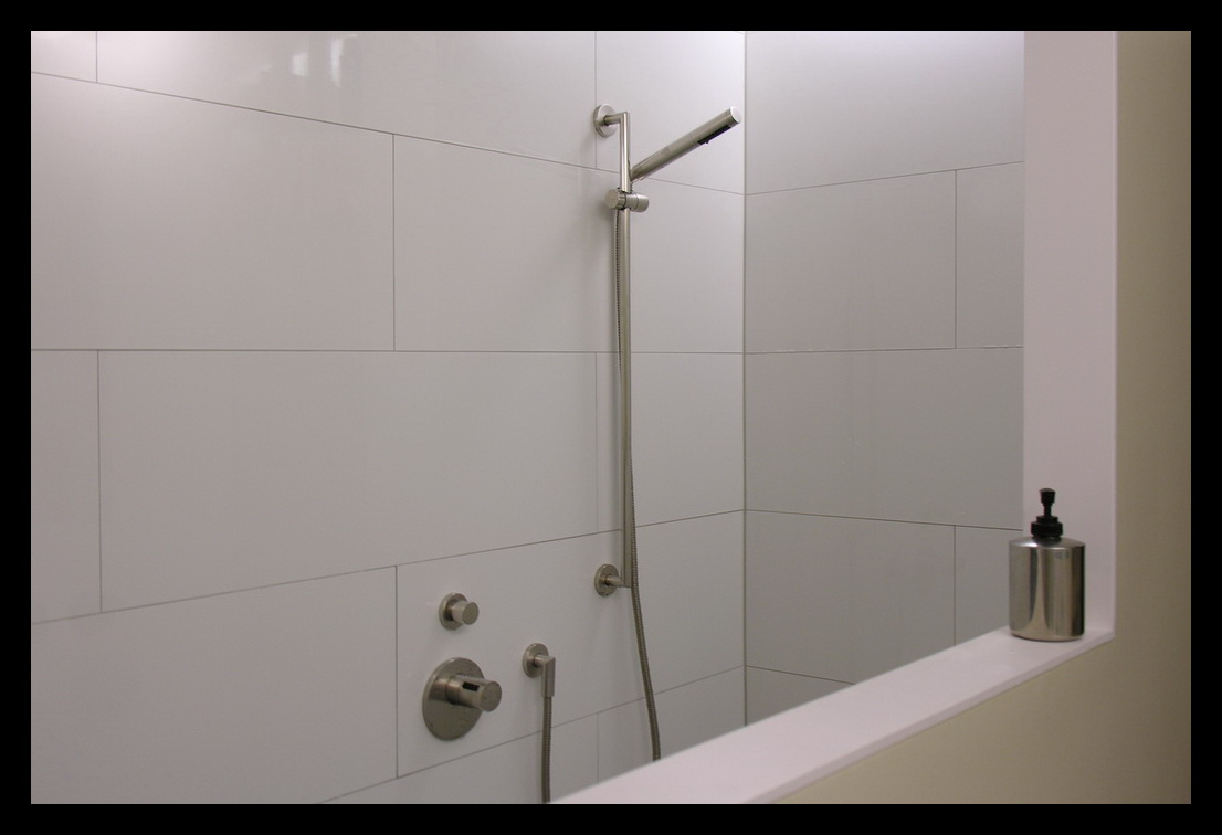 Wasbak Badkamer Grijze : eengezinswoning-badkamer-inloopdouche-douche ...