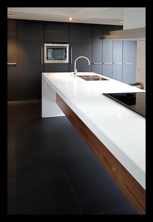 Wasbak kookeiland 094622 ontwerp inspiratie - Keuken en woonkamer in dezelfde kamer ...