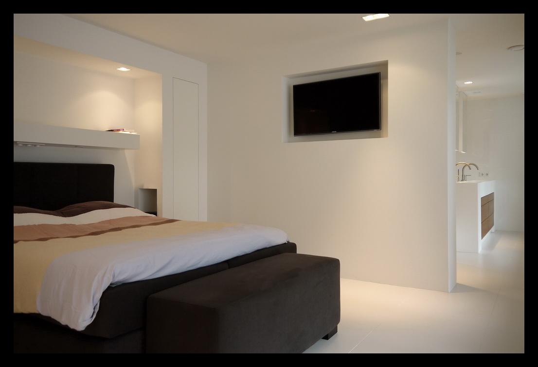Leonardus interieurarchitect inloopkast - Slaapkamer met kleedkamer en badkamer ...