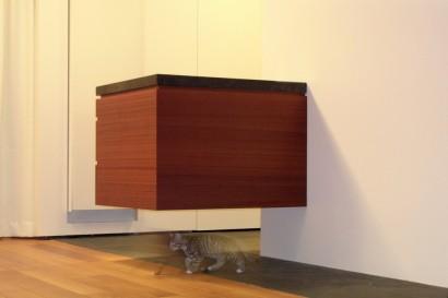 interieurarchitect-interieuradvies-binnenhuisarchitect-omgeving-Breda-twee-onder-een-kap-woning-Woonhuis Heinkenszand-zwevend-keukenblok-keuken-mahonie