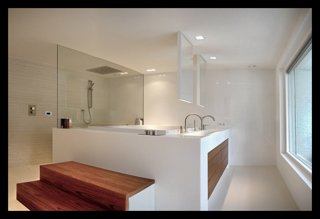 Badkamer In Slaapkamer : Inloopkast badkamer en slaapkamer leonardus interieurarchitect