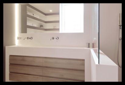 renovatie-verbouwing-vrijstaand-woning-wouw-bovenverdieping-badkamer-wastafel-douche-douchescherm-kasten-kranen